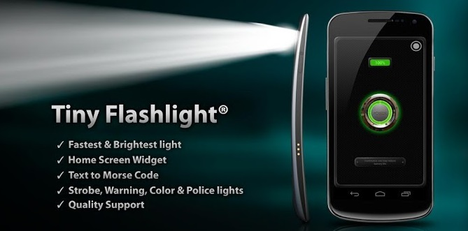 крутой андроид фонарик для смартфона и планшета