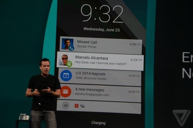 экран блокировки Android L 5.0