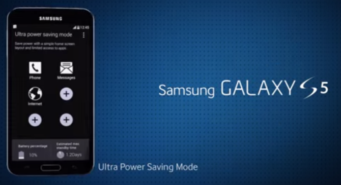 как работает Ultra Power Saving Mode на Galaxy S5