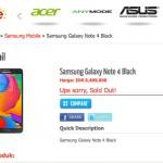 Samsung Galaxy Note 4 на прилавках китайского магазина