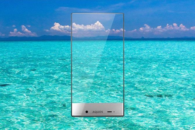 смартфон без рамки вокруг экрана