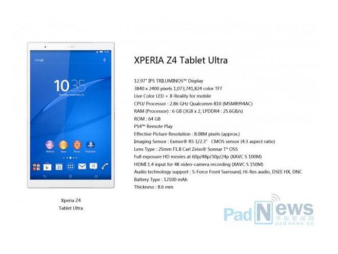Планшет Sony Xperia Z4_2