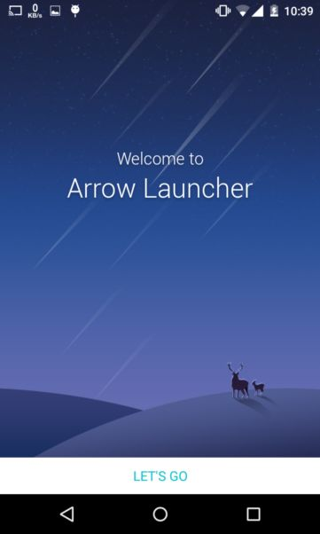 starting arrow launcher on android