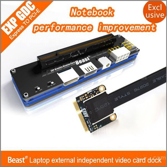 EXP GDC Beast Laptop External Independent Video Card Dock + Mini PCI-E Cable