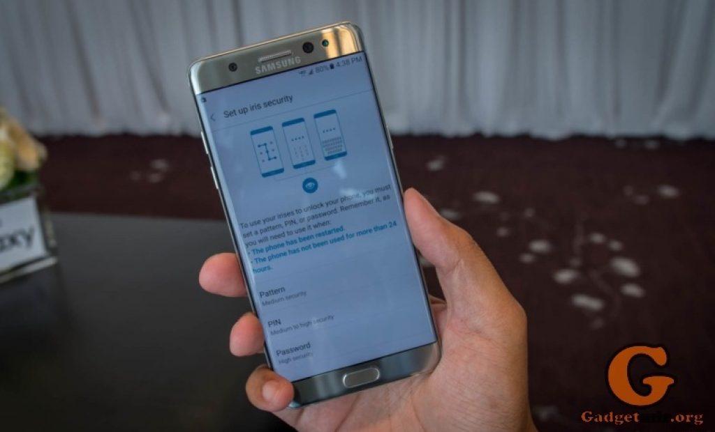 Iris Scanner, сканер радужной оболочки, Galaxy Note 7, Samsung, Android, gadget, smartphone, device, Андроид, гаджет, устройство, смартфон