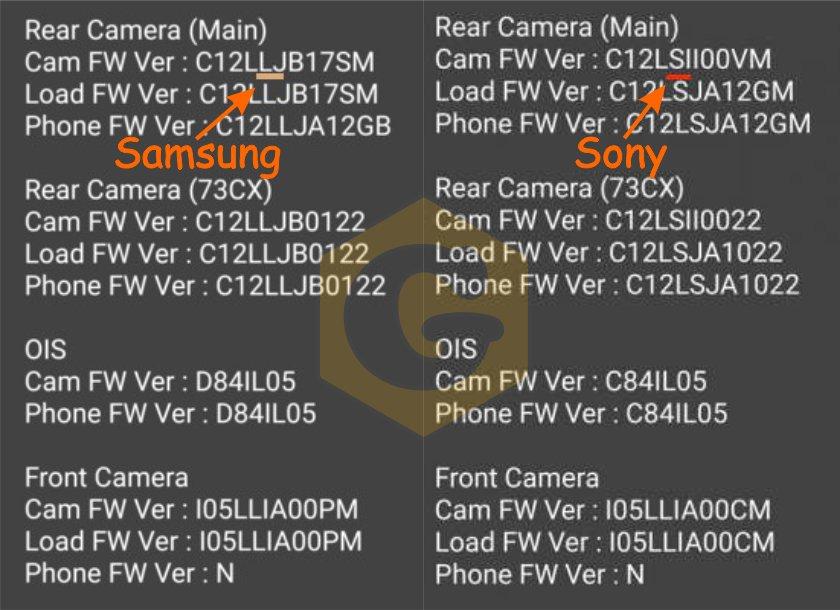 модуль камеры, сенсор, матрица, информация о камере, производитель, спецификации, простой способ, вопрос, проблемма.