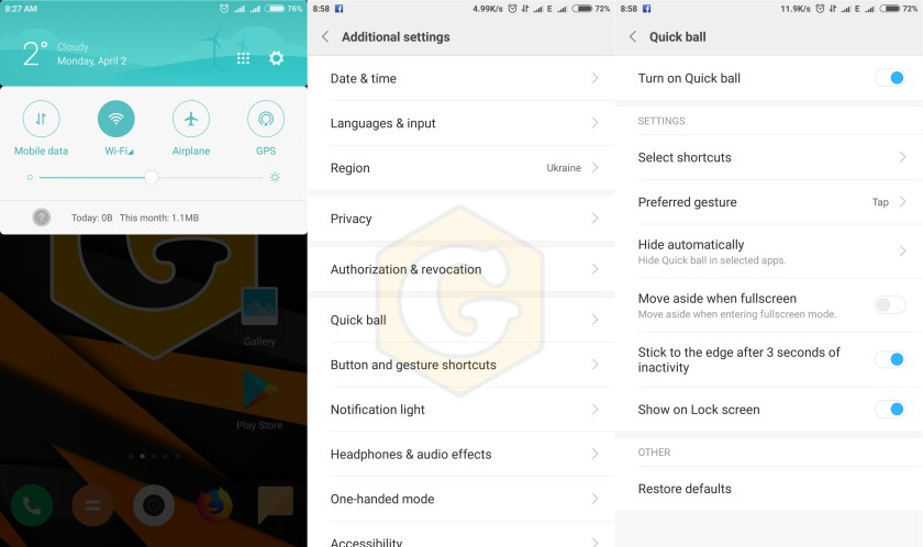 Xiaomi, smartphone, secret functions, Android, Miui 8, Miui 9, device, function, settings, Additional Settings