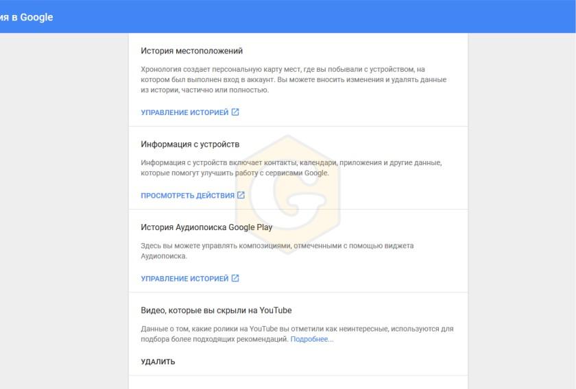 Google историю, удалить историю, удалить данные, удалить, Google, инструкция,