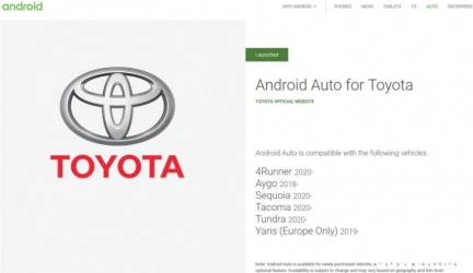 Toyota (наконец) вводит Android Auto в шести своих автомобилях