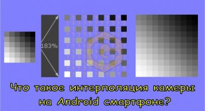 Что такое интерполяция камеры на Android смартфоне?
