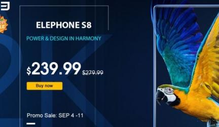 Скидка на телефон Elephone S8 и выгодное предложение по Wi-Fi наушниках