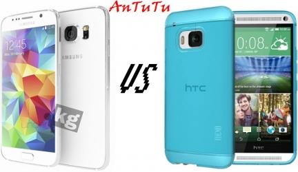 HTC One M9 vs Samsung Galaxy S6: результаты бенчмарка AnTuTu