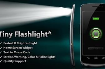 Tiny Flashlight: просто «яркий» фонарик для Android!