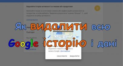 Як назавжди видалити всю Google історію і дані [Інструкція]