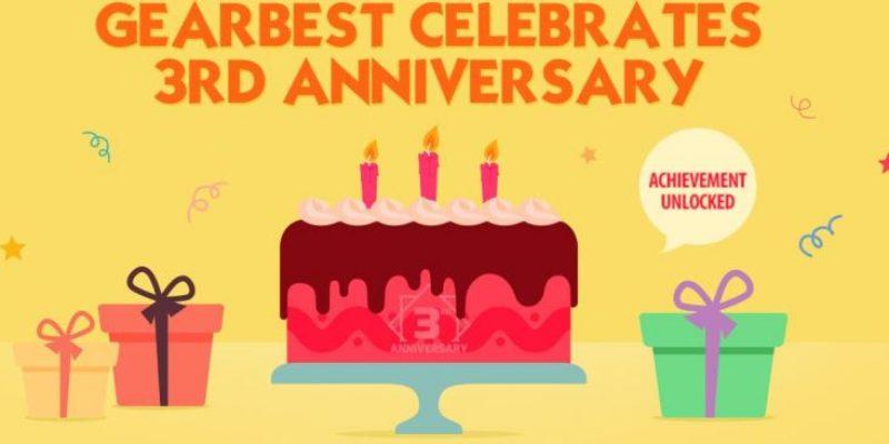 Gearbest празднует третий День рождения и дарит подарки!