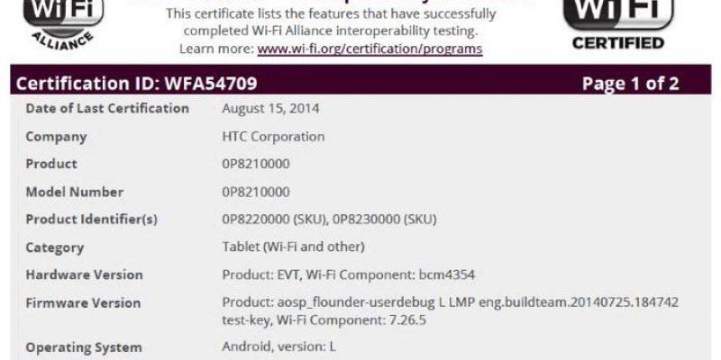 HTC Nexus 8 получит Android L и 64-битный Tegra процессор