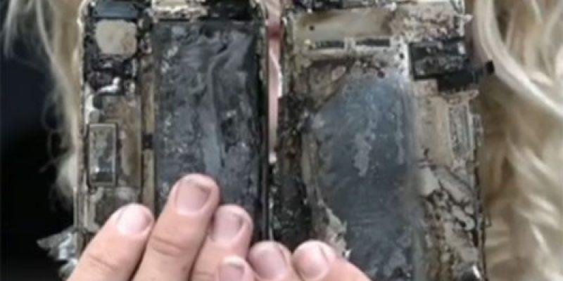 Возгорание  iPhone 7