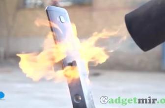 Необычный краш-тест смартфона HTC One М9 под воздействием огня