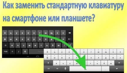 Как заменить стандартную клавиатуру на Android?